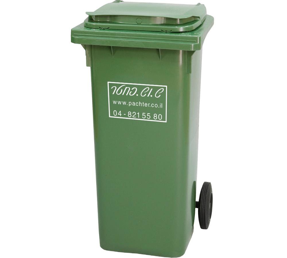 פח אשפה דגם 140 ליטר - פח זבל ירוק