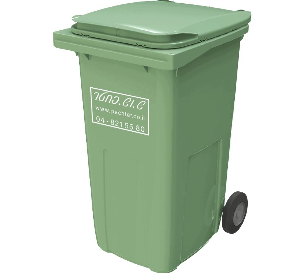 פח אשפה 240 ליטר - פח זבל ירוק