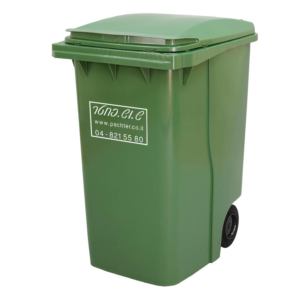 פח אשפה 360 ליטר - פח זבל ירוק